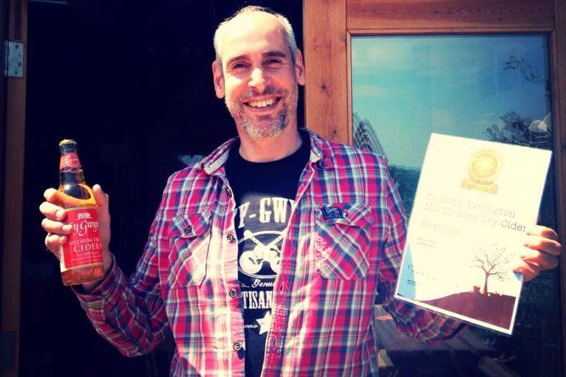 Alex Culpin and International Cider Challenge certificate