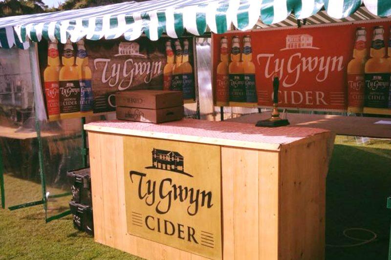 Ty Gwyn Cider's new wooden cider bar