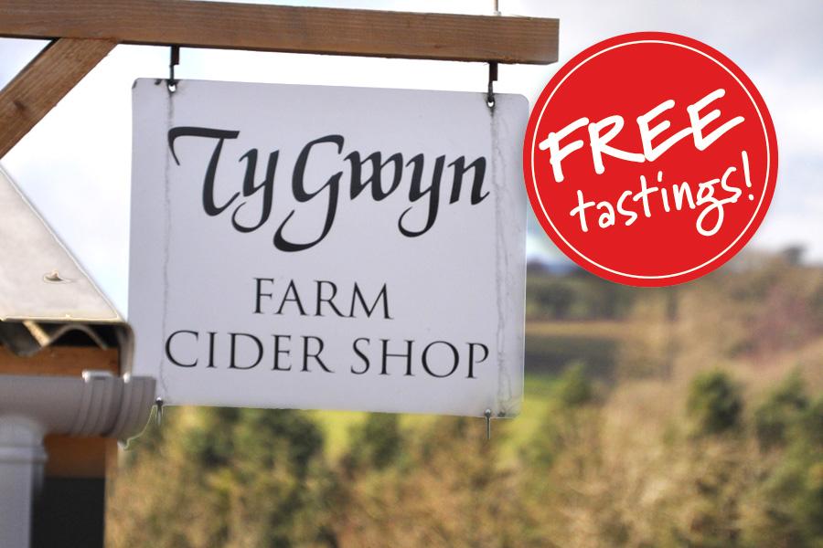 Ty Gwyn Cider shop sign