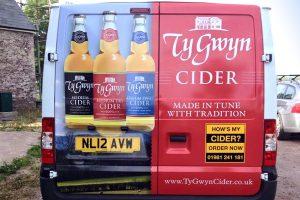 Ty Gwyn Cider van