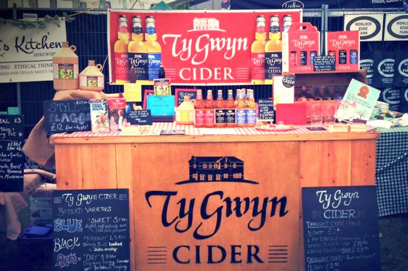 Ty Gwyn Cider stand at the Ludlow Food Festival