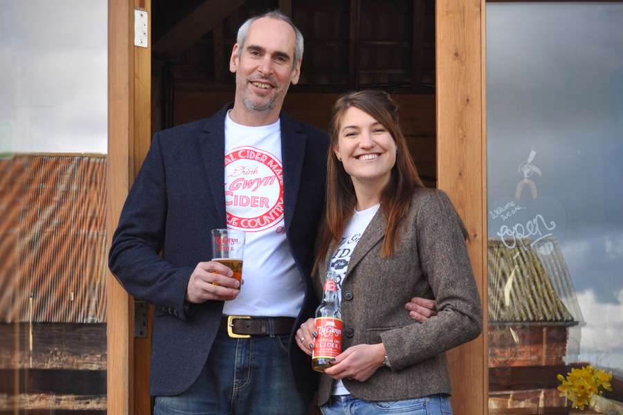 Alex and Laura Culpin of Ty Gwyn Cider