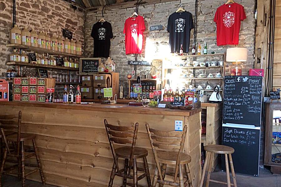 The Ty Gwyn Cider shop