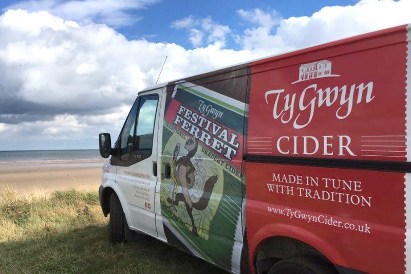 The Ty Gwyn Cider van