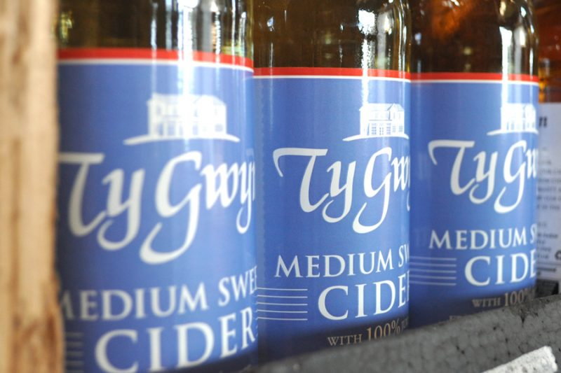 Bottles of Ty Gwyn Medium Sweet Cider