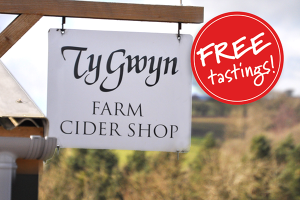 Ty Gwyn Cider shop sign