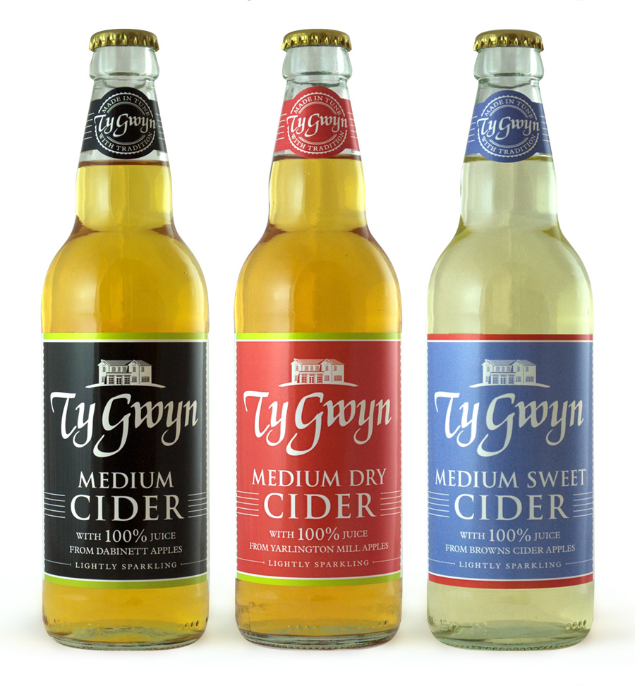 Ty Gwyn Cider bottled cider range