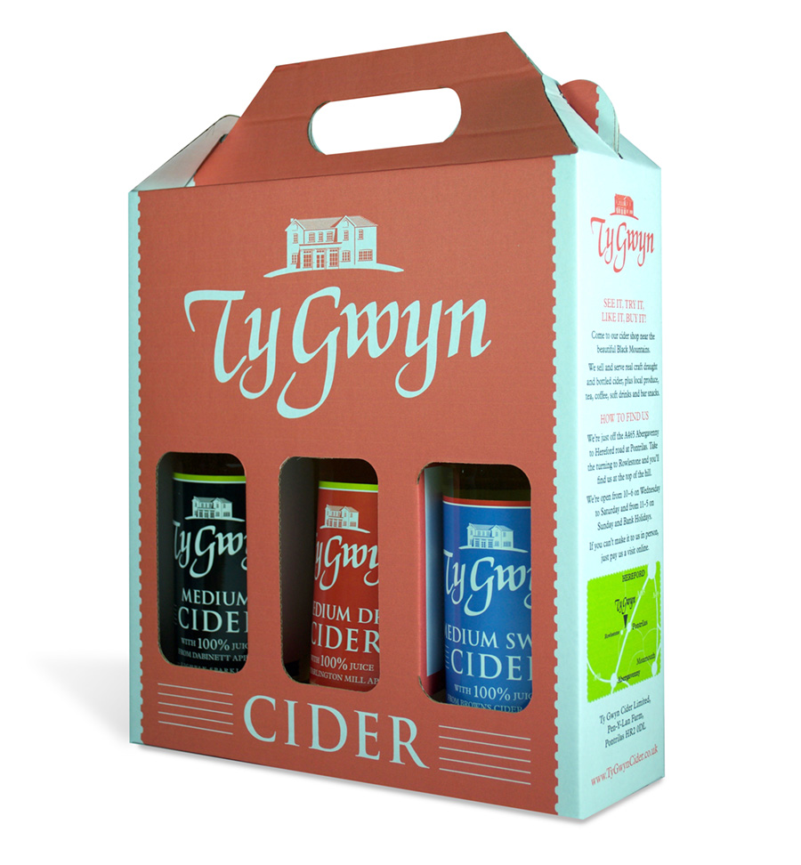 Ty Gwyn Cider 3-bottle gift pack
