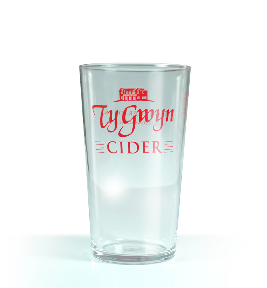 Ty Gwyn Cider pint glass