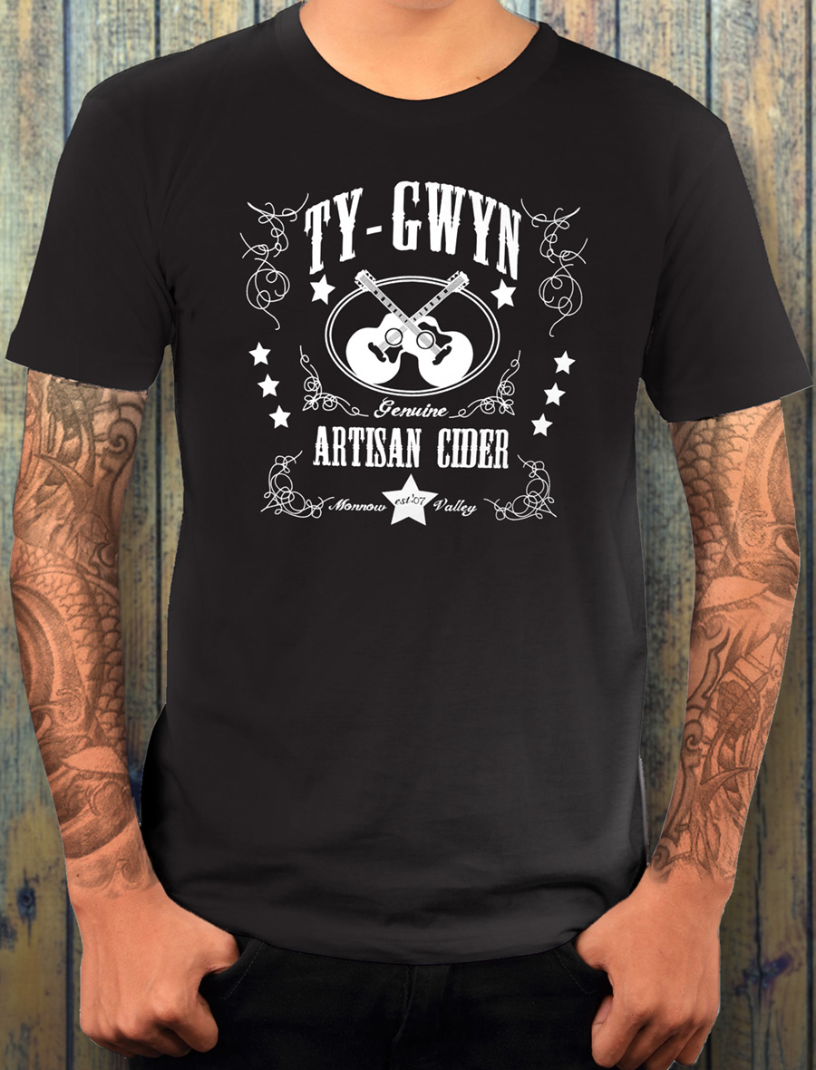 Men's Ty Gwyn Cider 'GTR' T-shirt in black (front)