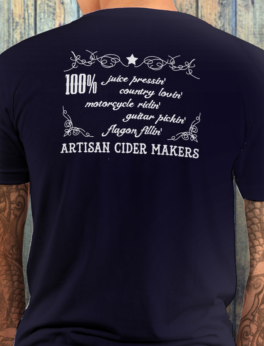 Men's Ty Gwyn Cider 'GTR' T-shirt in navy (back)