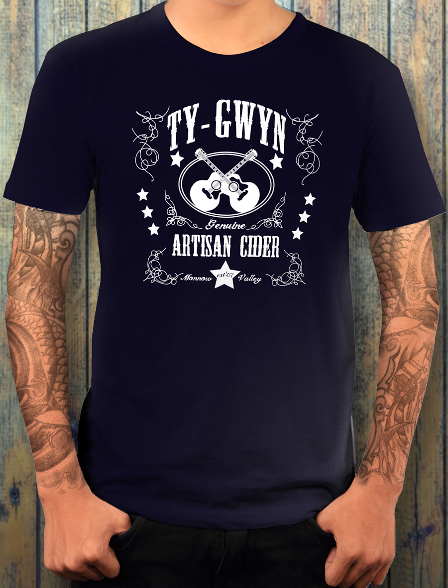 Men's Ty Gwyn Cider 'GTR' T-shirt in navy (front)