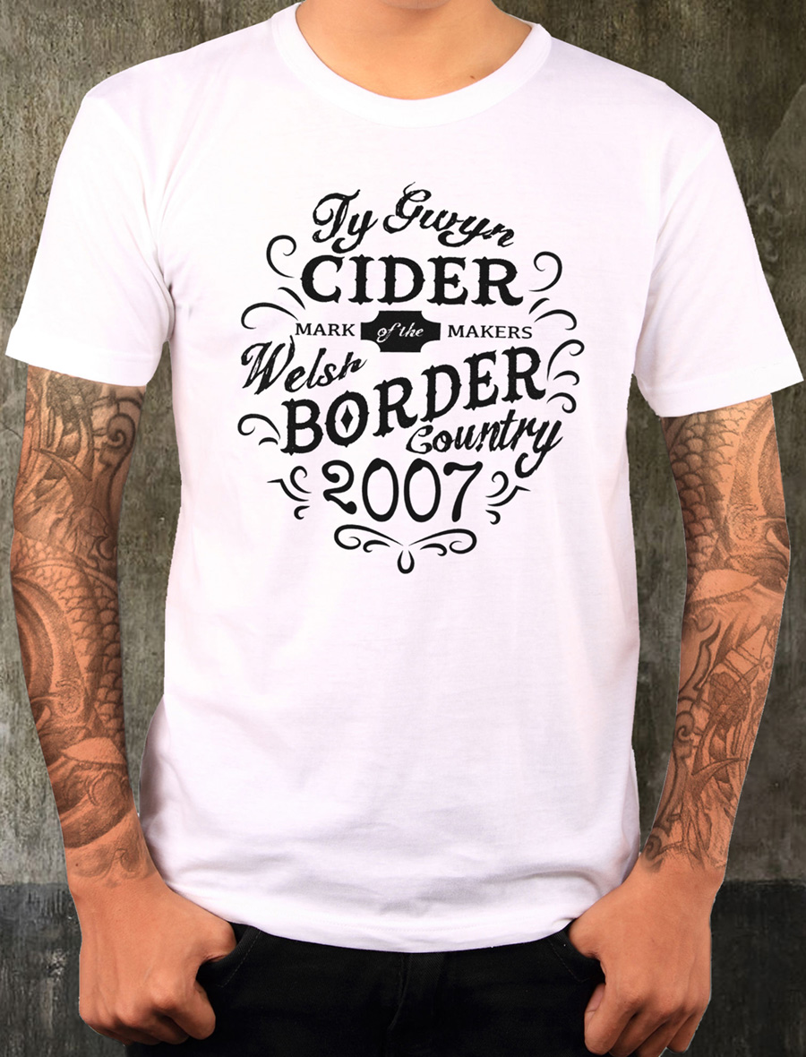 Men's Ty Gwyn Cider 'Makers' T-shirt in white (front)