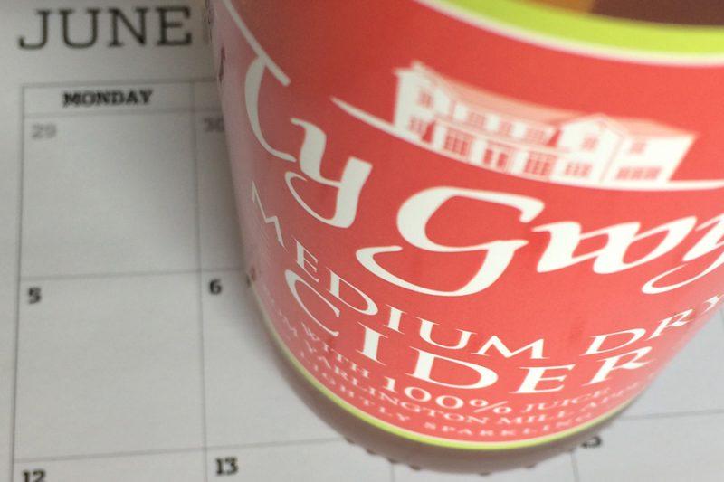 Ty Gwyn Cider diary dates