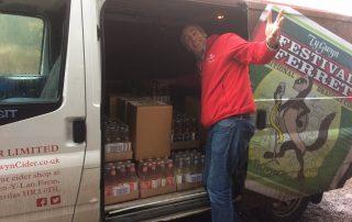 Alex Culpin delivering Cider