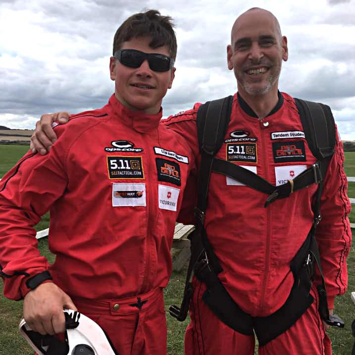 Alex Culpin's charity parachute jump