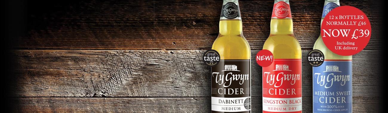 Ty Gwyn bottled cider offer