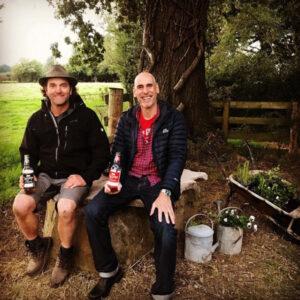 Simon and Alex enjoy a cider